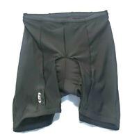 Louis Garneau Women's Padded Cycling Shorts Black Size L USA Made