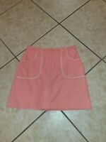 IZOD X-TRA DRY CORAL ORANGE SKORT SIZE 6 ZIPS AND CLASP IN FRONT POCKETS