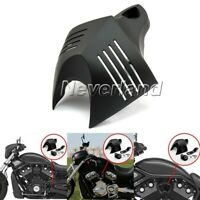 Black Motorcycle V-shield Stock Cowbell Horn Cover For Harley Dyna Bob Electra