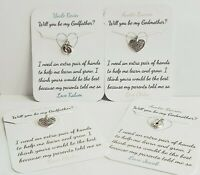 Will You Be My Godmother, Godfather, Godparents Card PERSONALISED, Keepsake,Gift