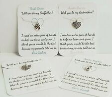 PERSONALISED Will You Be My Godmother, Godfather, Godparents Request Card