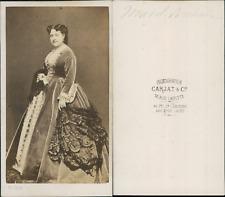 Carjat, Paris, Madeleine-Émilie Brohan, actrice CDV vintage albumen.Madeleine-
