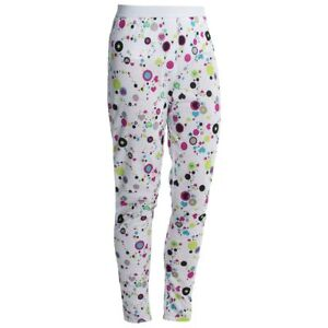 Hot Chillys Youth Pepper Skins Print Bottom, Dots & Hearts-White, Large