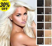 """18"""" 20"""" 22"""" 24"""" 1 GRAM/1G Micro Rings Easy Loop 100% Real Human Hair Extensions"""