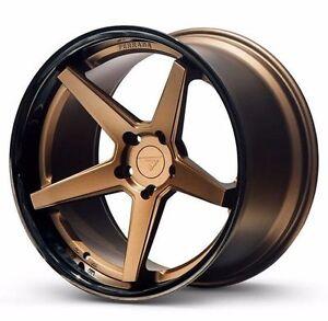 "20"" Ferrada FR3 Bronze 20x9 20x10.5 Wheels for Chevy Camaro SS 2010 - Present"