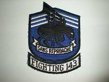 US NAVY VF-143 SQUADRON PATCH -COLOR