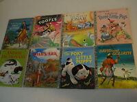 8 Classic a Little Golden Books Paul Revere Tootle Jonah Noah's Ark Poky 3 pigs+