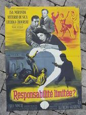 AFFICHE CINEMA vintage : RESPONSABILITE LIMITEE / 1956 / DE SICA T. VASILE litho