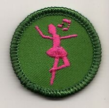 Retired Girl Scouts Junior Badge Patch~2000-2011~Dance