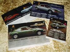 1969-1970 Buick Opel Gt Vtg/Original Ad Lot (4) Gt/1.1 Sr/1.9 liter engine/parts