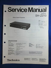 Technics SH-Z210 Equalizer EQ Service Manual Factory Original The Real Thing