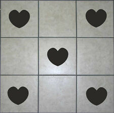 22 x Heart Tile Stickers Transfers Decals For Bathroom Kitchen Wall Vinyl | T6