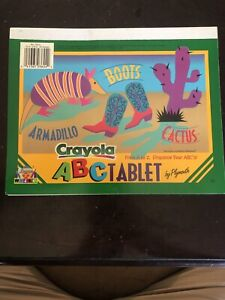 Vintage Crayola Learn To Write ABC tablet 10x8