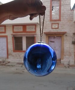 Antique Old Collectible Round Shape Blue Kugel Christmas Tree Decor Ornaments