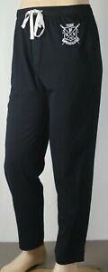 POLO Ralph Lauren Black Pajamas Lounge Sleep Pants Rowing Club Crest NWT