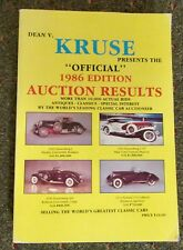 Kruse (Official) 1986 Edition Auto Auction Results Catalog