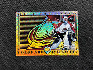 1998-99 PACIFIC DYNAGON ICE PATRICK ROY TEAM CHECKLIST GOLD FOIL #7