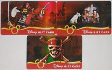 All 3 Disneyland Pirates of the Caribbean LE 10,000 Gift Cards 2007:Pirate,Jail+