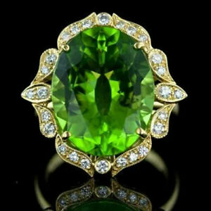 Fashion 925 Silver Ring Women Emerald Wedding Engagement Rings Jewelry Size 6-10