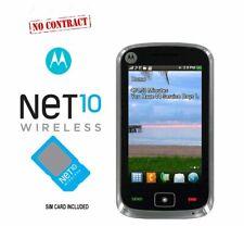 MOTOROLA EX124G Black Smartphone/Cell Phone- NET10 WIRELESS + net10 sim card