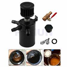 Universal CNC 3-Port Oil Catch Can Baffled Tank Reservoir Separator w/ Filter 1x