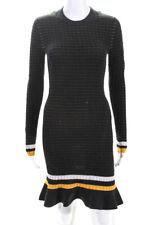 3.1 Phillip Lim  Womens Long Sleeve Sweater Dress Black Size Small