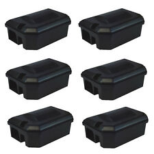 6 X PROFESSIONAL RAT RODENT BAIT STATION BOX ONLY for Block Pasta & Wheat Bait