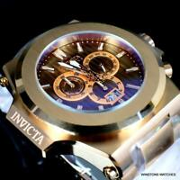 Invicta Reserve Akula 58mm Rose Gold Plated Steel Swiss Mvt Brown Watch New