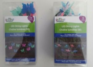 LED STRING LIGHTS-- BUTTERFLY OR DRAGON FLIES  --ASSORTED COLORS