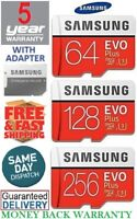 SAMSUNG EVO Plus Micro SD 64,128,256GB Class10 U3 Flash Memory Card w/SD Adapter