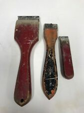 Set of Three Traditional Wooden Handle Paint Scrapers