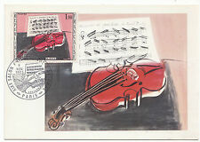 CARTE  MAXIMUN TIMBRE FRANCE  N° 1459 LE VIOLON ROUGE DE RAOUL DUFY