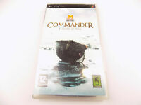 Playstation Portable PSP Military History Commander Free Postage From MELBOURNE