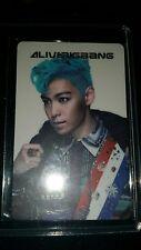 Big Bang Alive T.O.P official photocard Card kpop k-pop  u.s seller