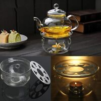 Clear Glass Heat-Resisting Round Teapot Warmer Insulation Base Candle