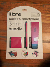IHome 3 In 1 Bundle Cleaning Cloth, Stylus Pen, Stand with Foldable Keyboard NEW