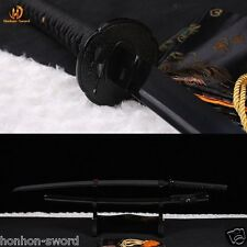 41' hand forged full black 1060 sharp blade real japanese samurai Katana sword.