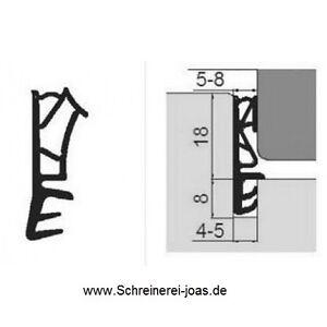 Fensterdichtung Haustürdichtung 120m 18mm-Falz 5mm-Nut 5mm-Luft 199,20 1,66€/lfm