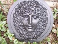 Forest fairy garden face mold plastic casting abs mould
