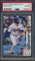 2020 Topps Opening Day #70 Gavin Lux Rookie Card RC Dodgers PSA 10 Gem Mint