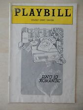 November 1985 - Walnut Street Theatre Playbill - Isn't It Romantic - London