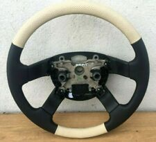 RANGE ROVER L322 STEERING WHEELS BLACK & BEIGE PERFORATED LEATHER HEATED NEW!!!
