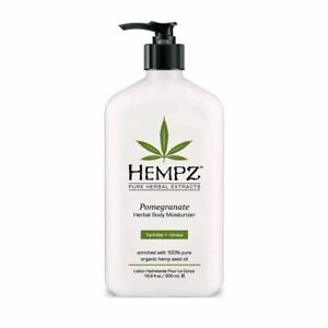 Hempz Pomegranate Herbal Body Moisturizer 500ml Paraben Free Lotion 500ml