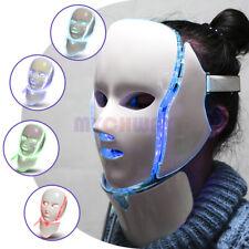 7 Color LED Light Photon Face Mask Rejuvenation Skin Facial Neck Therapy Wrinkle