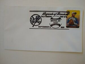 US 2000 Yankees LEGENDS OF BASEBALL Satchel Paige COVER , Bronx NY