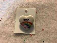 Rainbow & Hearts Fashion Pin Brooch Personalized DAWN - Stocking Stuffer - NEW