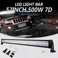 "52"" 500W CREE LED WORK LIGHT BAR Combo for JEEP HONDA FORD PICKUP SUV ATV 50/54"""