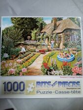 """Bits and Pieces 1,000 pc Jigsaw Puzzle """"Summer Cottage Garden"""""""