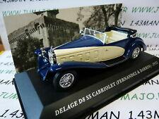 AUT7M 1/43 IXO altaya Voitures d'autrefois : DELAGE D8 SS cabriolet 1932