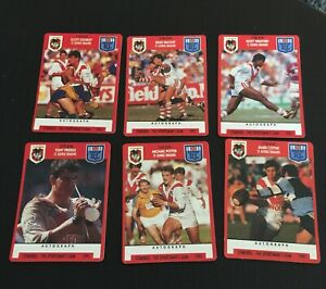 NRL Stimorol 1991 Trading Cards St George Dragons X 6 Great Players